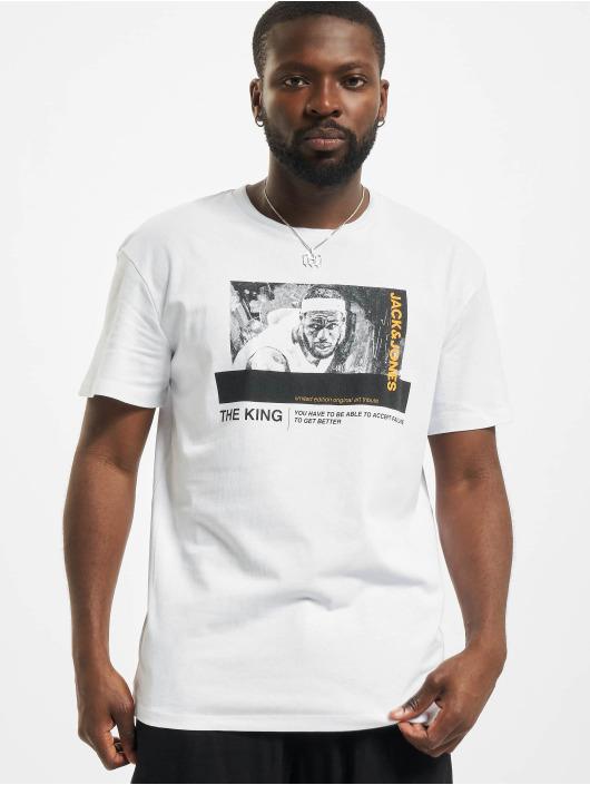 Jack & Jones T-Shirt Jcolegends Statement Crew Neck weiß