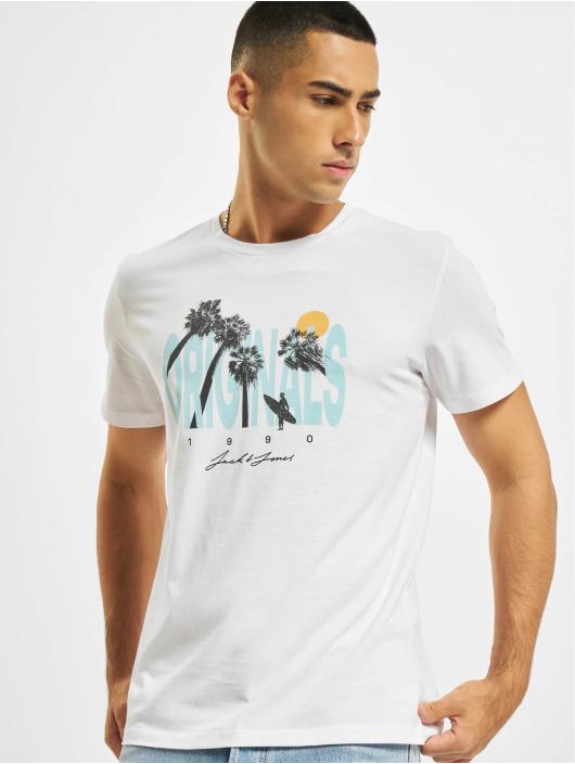 Jack & Jones T-Shirt Jorocto Crew Neck weiß