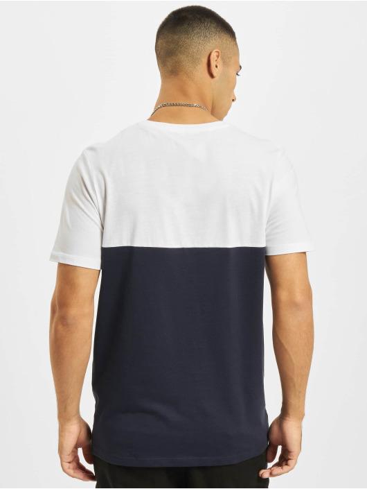 Jack & Jones T-Shirt Jjeurban Blocking O-Neck weiß