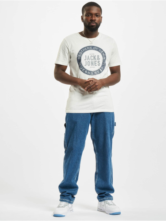 Jack & Jones T-Shirt Jjejeans O-Neck weiß