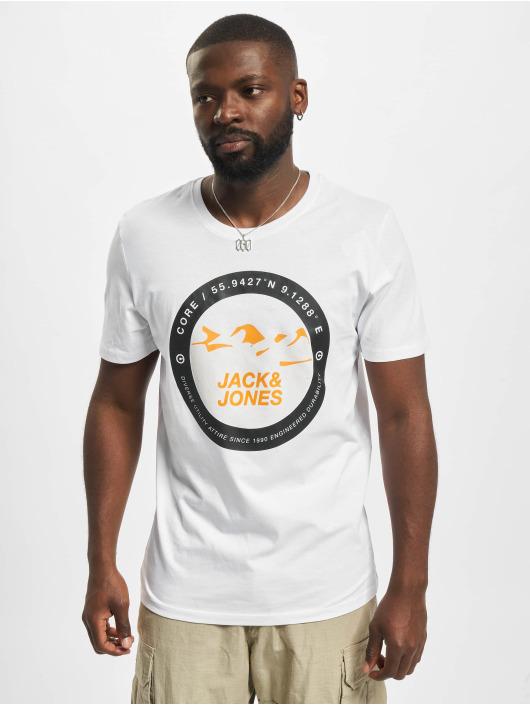 Jack & Jones T-Shirt Jcobilo Crew Neck weiß