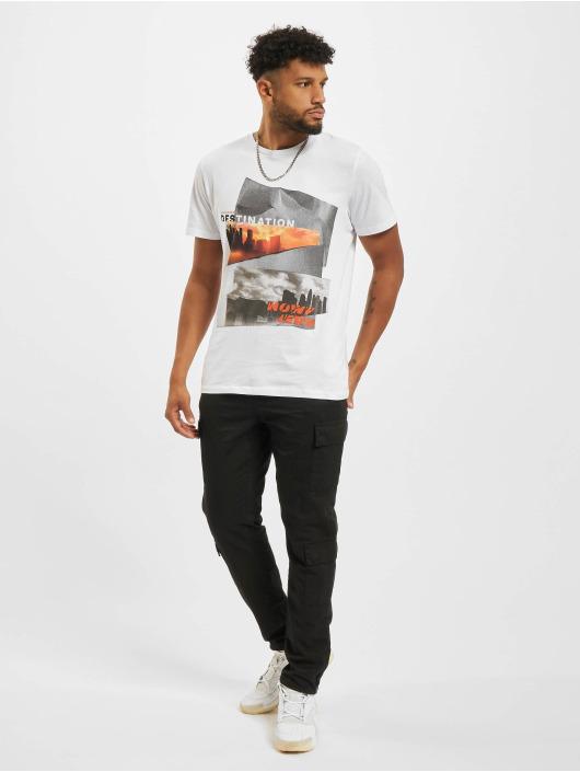 Jack & Jones T-Shirt Jjurban City Crew Neck weiß