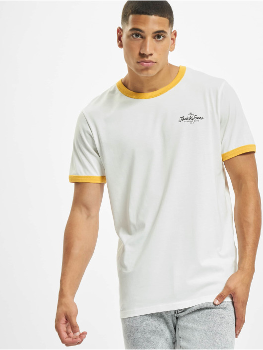 Jack & Jones T-Shirt jorCalli Ringer Organic yellow