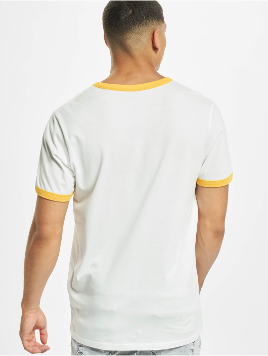 Jack & Jones T-Shirt jorCalli Ringer Organic yellow