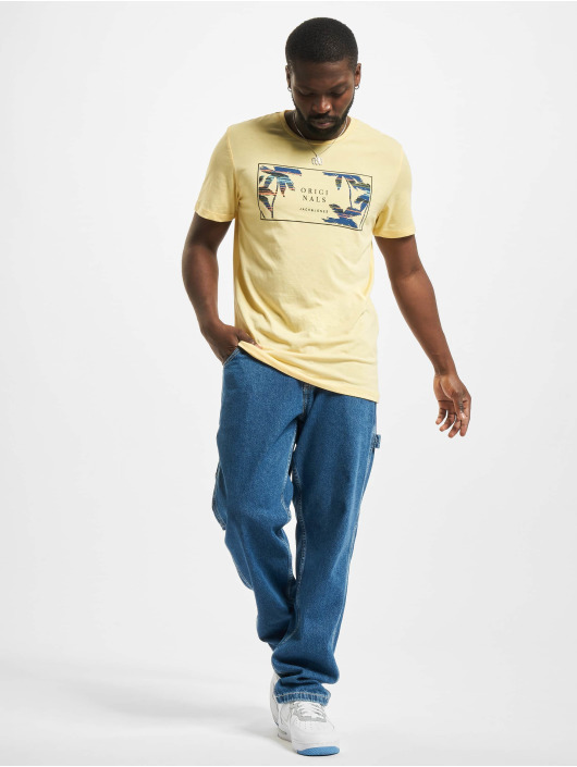 Jack & Jones T-Shirt Jorhaazy Crew Neck yellow