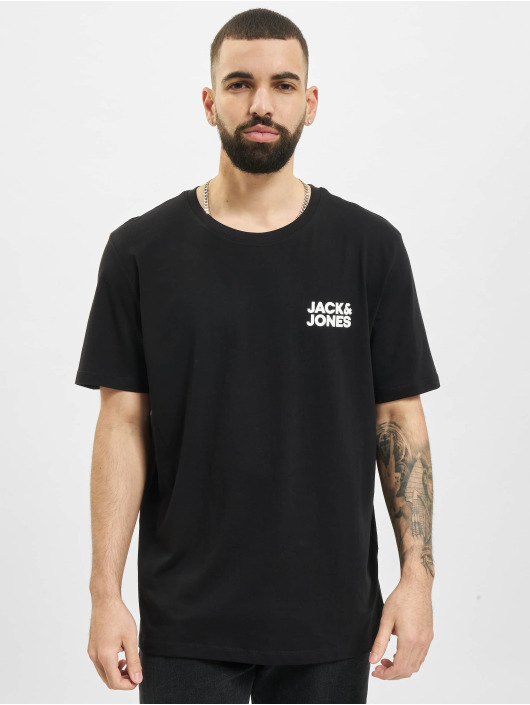 Jack & Jones t-shirt Jjecorp Logo O-Neck 3-Pack zwart