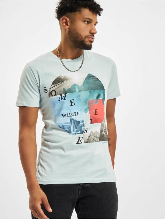 Jack & Jones T-shirts Jjurban City Crew Neck blå