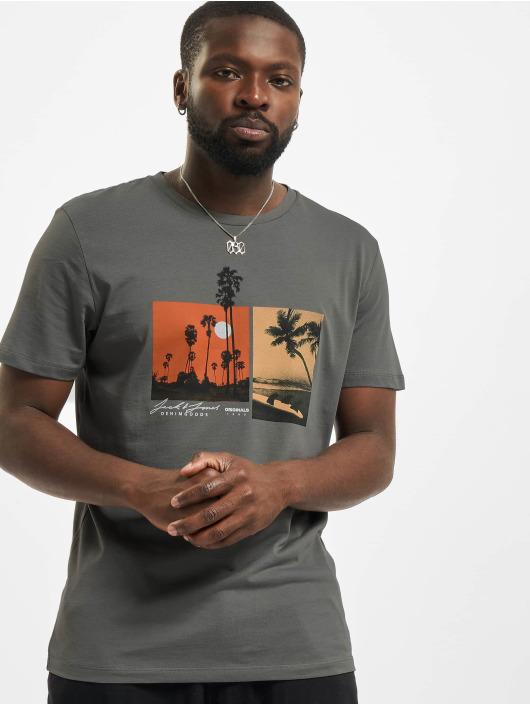 Jack & Jones T-shirts Jorocto Crew Neck grå