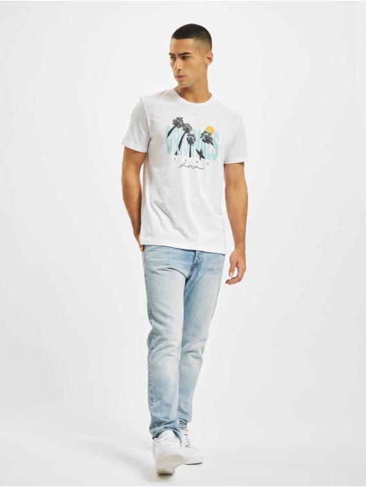 Jack & Jones T-shirts Jorocto Crew Neck hvid