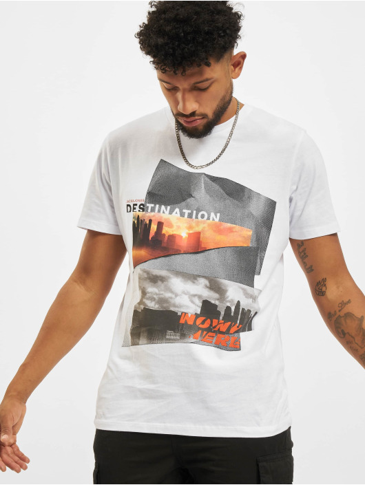 Jack & Jones T-shirts Jjurban City Crew Neck hvid