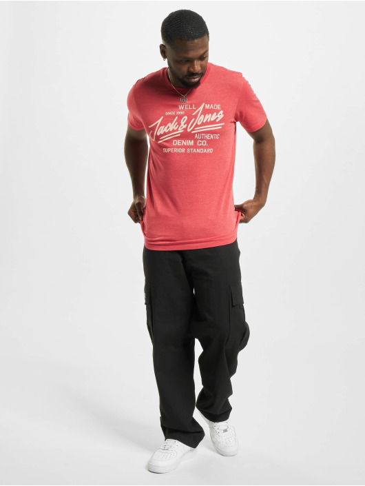 Jack & Jones T-shirts jjeJeans Noos rød