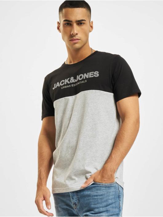Jack & Jones T-shirts Jjeurban Blocking O-Neck sort