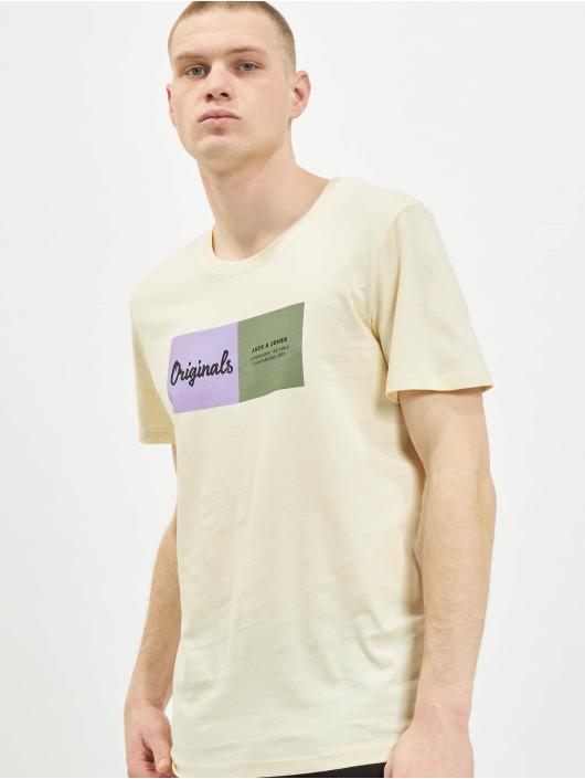 Jack & Jones T-Shirty jorJoshua bezowy