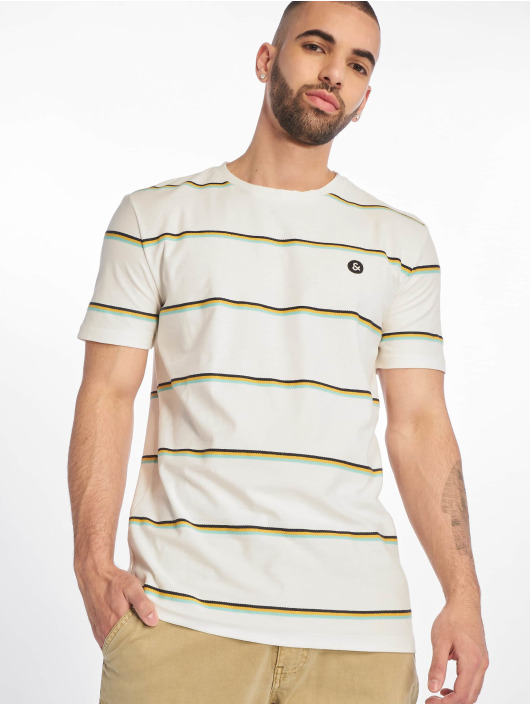 Jack & Jones T-Shirty jorHerringbone bialy