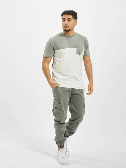Jack & Jones T-Shirty jjeMix Crew Neck bialy