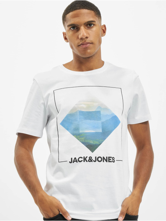 Jack & Jones T-Shirty jjBarista bialy