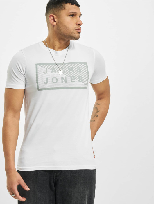 Jack & Jones T-Shirty jcoShawn Noos bialy