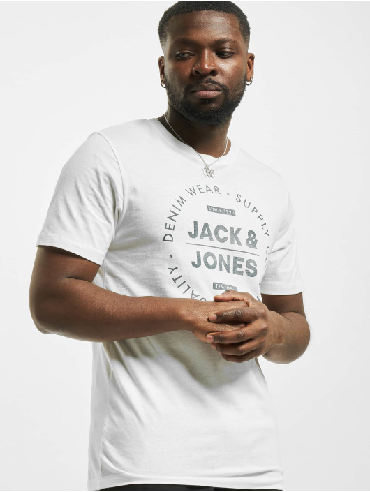 Jack & Jones T-Shirty jjeJeans Noos bialy