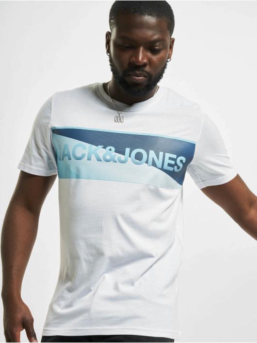 Jack & Jones T-Shirty jcoJenson bialy