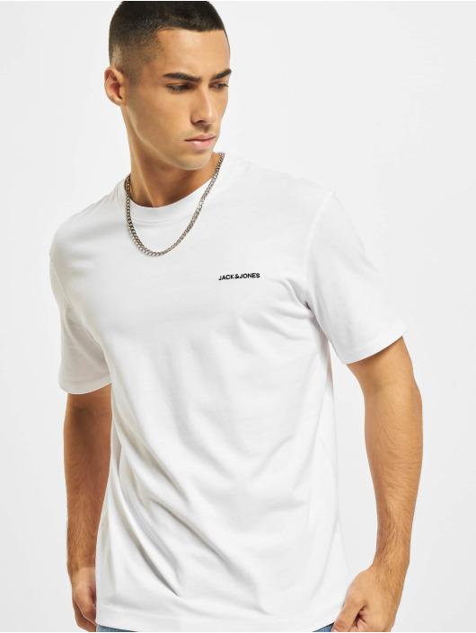 Jack & Jones T-Shirty Jjerelaxed Corp EMB O-Neck bialy