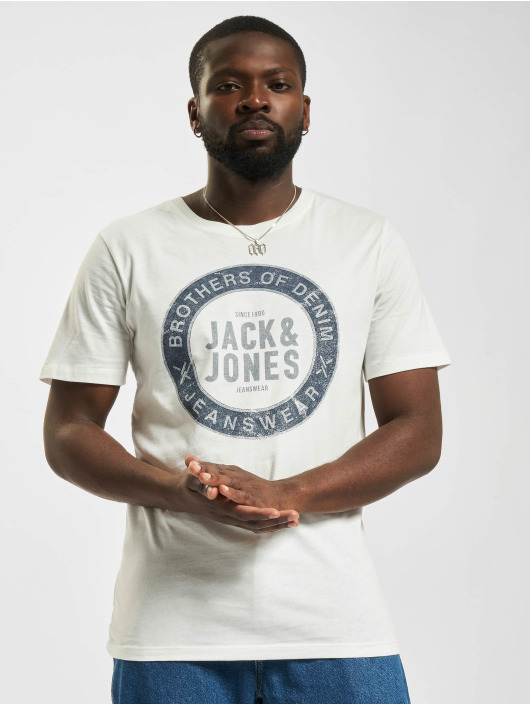 Jack & Jones T-Shirty Jjejeans O-Neck bialy