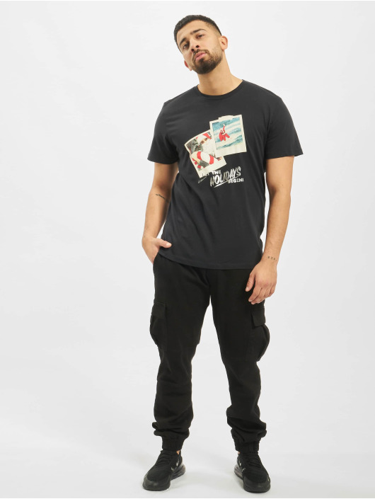Jack & Jones T-Shirty jorSantaparty czarny