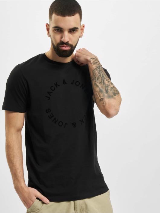 Jack & Jones T-Shirty jjCircle Flock czarny