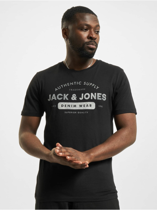 Jack & Jones T-Shirty jjeJeans Noos czarny