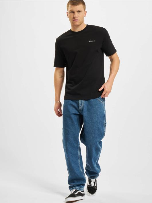 Jack & Jones T-Shirty Jjerelaxed Corp EMB O-Neck czarny
