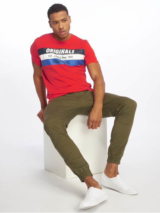 Jack & Jones T-Shirty jorShakedowns czerwony