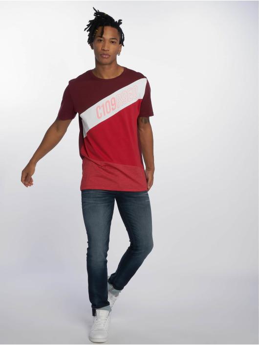 Jack & Jones T-Shirty jcoKate czerwony