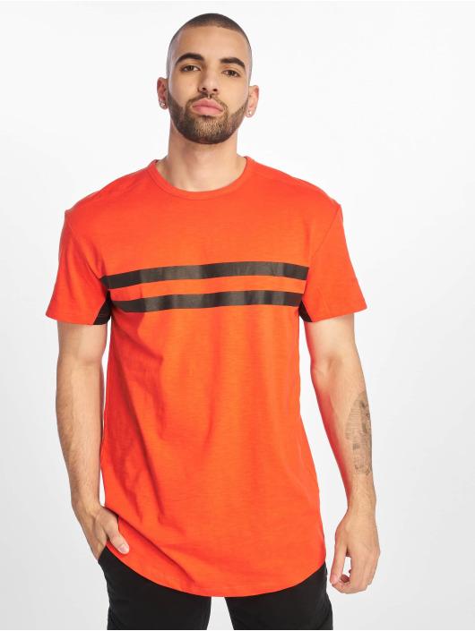 Jack & Jones T-Shirty jcoLeaf czerwony