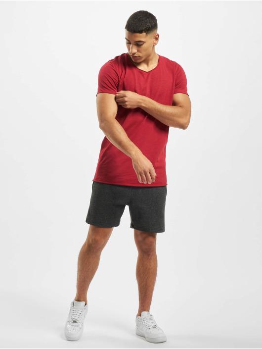 Jack & Jones T-Shirty jjeBas czerwony