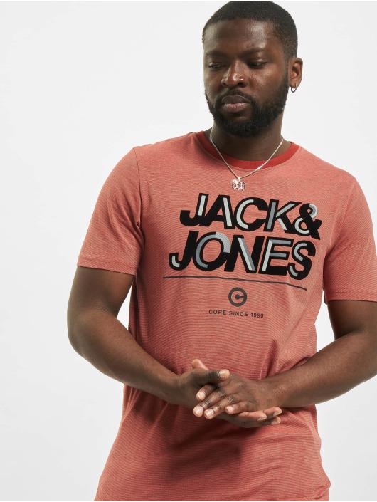 Jack & Jones T-Shirty jcoBerg Turk czerwony