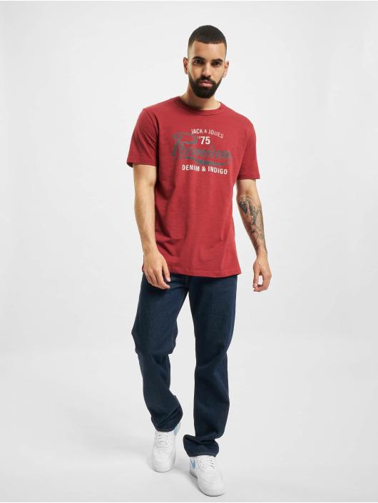 Jack & Jones T-Shirty JPR Bluedward STS czerwony