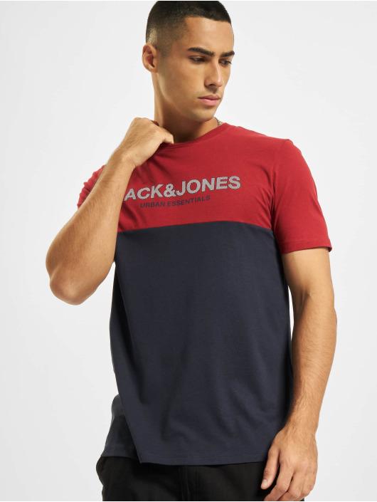 Jack & Jones T-Shirty Jjeurban Blocking O-Neck czerwony