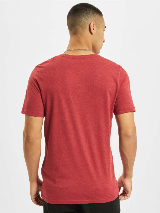 Jack & Jones T-Shirty Jjejeans O-Neck czerwony