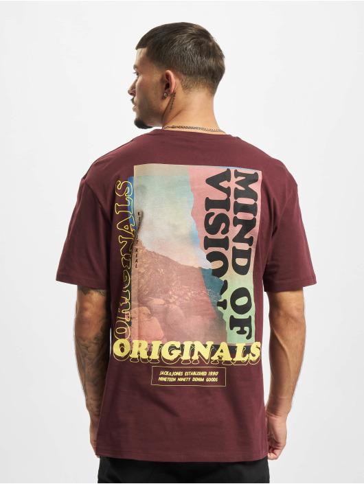 Jack & Jones T-Shirty Jorinfinitys czerwony