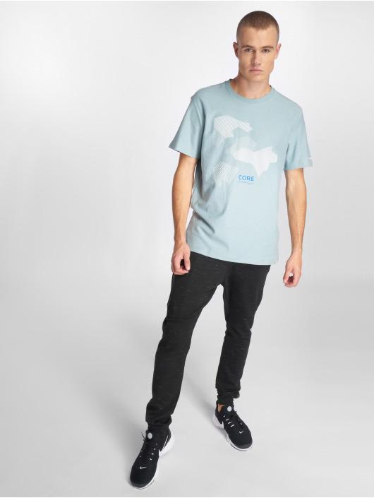 Jack & Jones T-Shirty jcoNine niebieski
