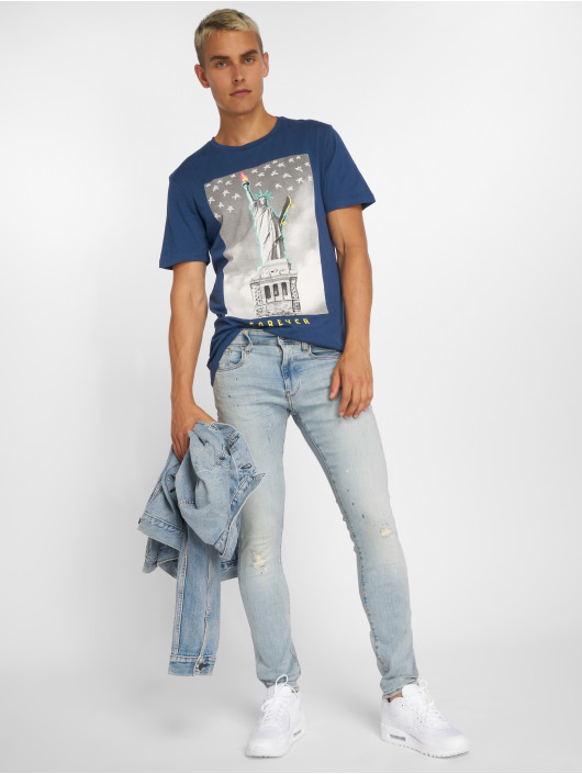 Jack & Jones T-Shirty jorRailroad niebieski