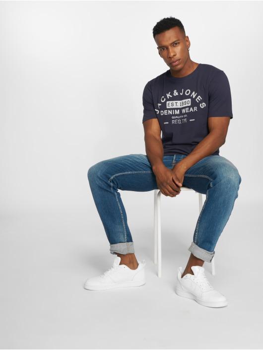 Jack & Jones T-Shirty jjeJeans Print niebieski