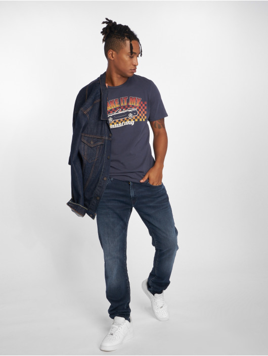 Jack & Jones T-Shirty Jormustang niebieski