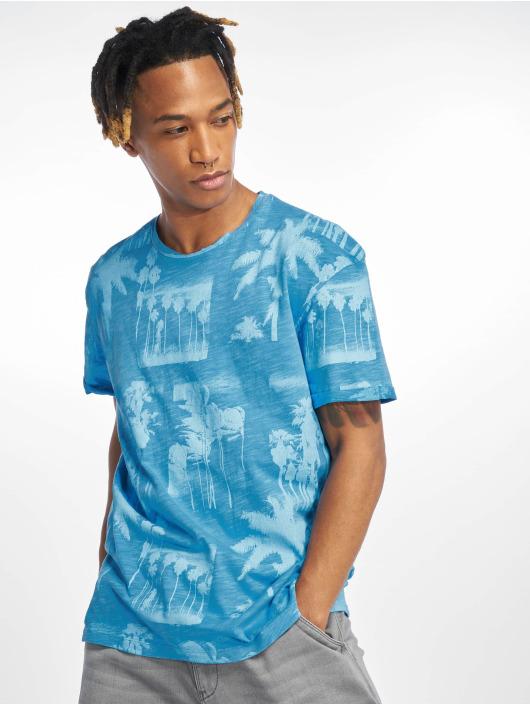 Jack & Jones T-Shirty jorPhotopalm niebieski