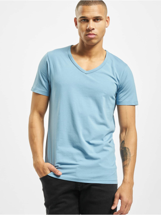 Jack & Jones T-Shirty jjeBasic niebieski