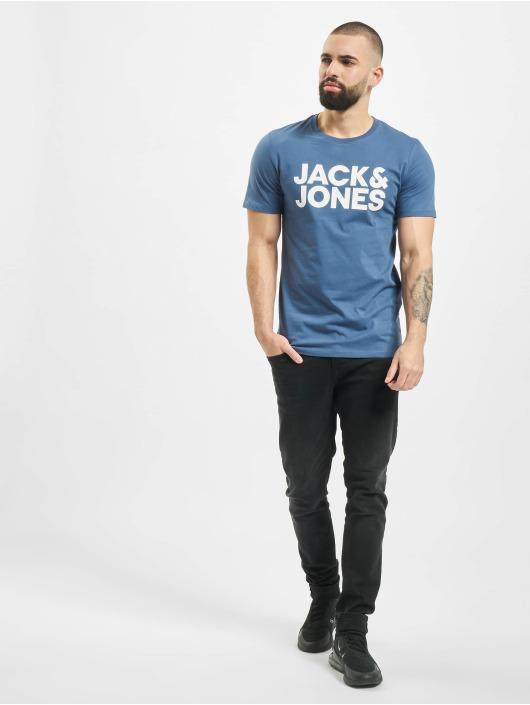 Jack & Jones T-Shirty jjeCorp niebieski