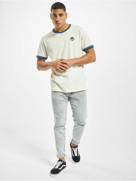 Jack & Jones T-Shirty jorCalli Ringer Organic niebieski