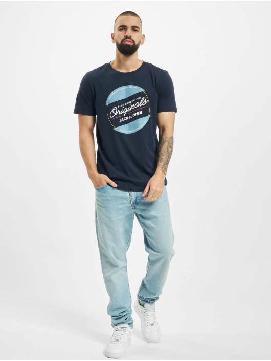 Jack & Jones T-Shirty jorTonni niebieski