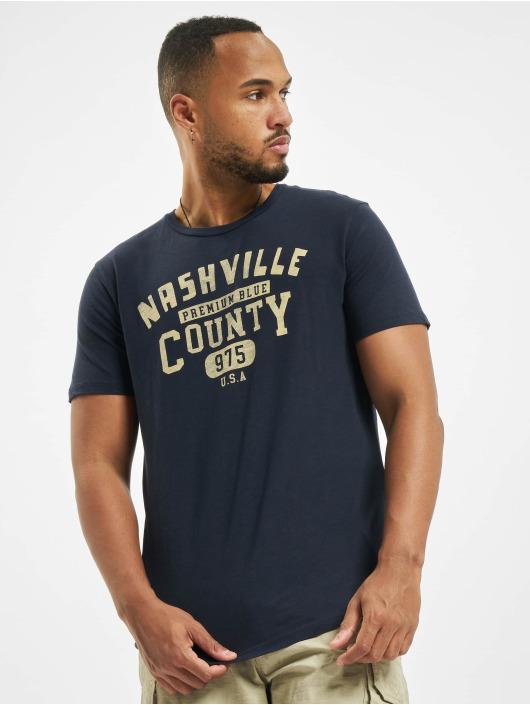 Jack & Jones T-Shirty jprBlubryan niebieski