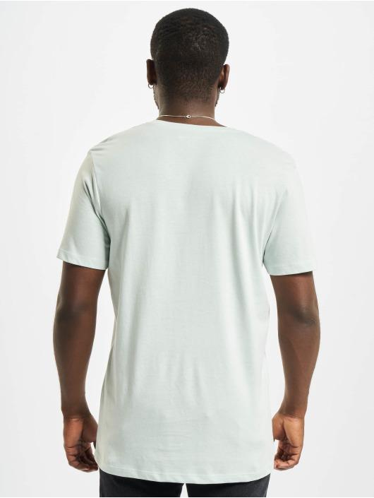 Jack & Jones T-Shirty Jormaldives Crew Neck niebieski