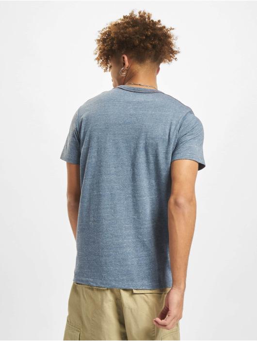 Jack & Jones T-Shirty Jprblubowery V Neck niebieski